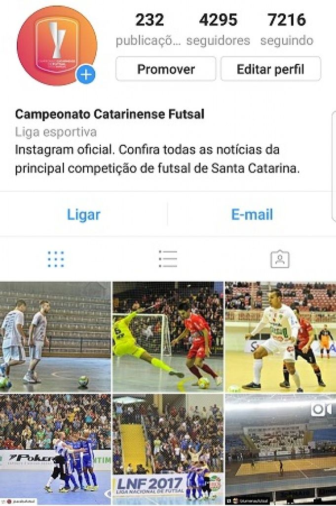 Instagram do Catarinense Futsal supera 4 mil seguidores